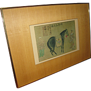 Chinese Framed Print of Tang Dynasty Painting