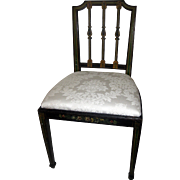 19th Century George III Painted Side Chair in the Hepplewhite Style
