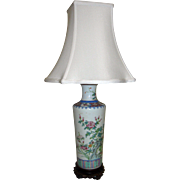 19th Century Chinese Export Vase Table Lamp