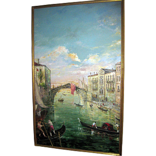 Monumental Size Oil Painting of Venice by Valerio Zerbo