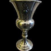 Bezalel Style Vintage Silver Filigree Work Eilat Stone Kiddush Cup