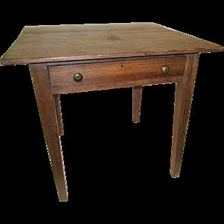 19th Century American Primitive Work Table