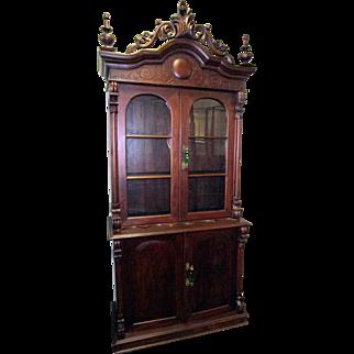 American Victorian Antique Walnut Cupboard