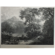 "Charles Motte, French Lithograph (1785-1836), ""Mort D'Adonis"" - Red Tag Sale Item"