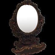 Antique Bronzed Art Nouveau Dresser Mirror