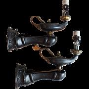 Antique Moorish Revival Aladdin Genie's Lamp Wall Sconces