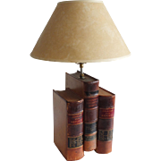 Vintage Table Lamp of Antique Law Books