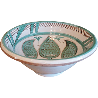 Italian Centerpiece Faience Pottery Bowl, Nove, Italy