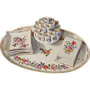 Dresden Saxony Porcelain  Carl Thieme Cigarette Serving Set