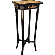 French Neoclassical Ebonized Pedestal Table Stand