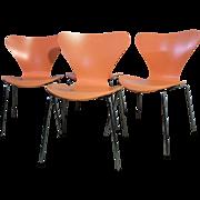 Fritz Hansen Series 7 Arne Jacobsen Side Chairs - Set of 4