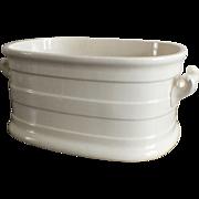 Large Antique White French Porcelain Foot Bath