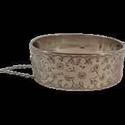 Vintage English Sterling Silver Bangle Bracelet, Hallmarked 1967
