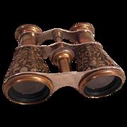 Vintage Engraved Brass Opera/Event Binoculars