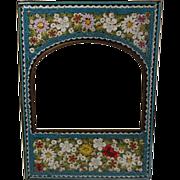 Italian Florentine Micro Mosaic Photo Frame