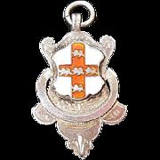 Sterling Silver & Enamel Watch Fob/Trophy