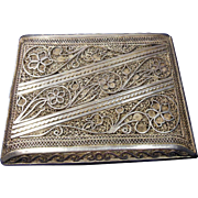 Filigree (800 Silver) Cigarette/Card Case