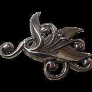 Mexican Sterling Silver (925) Brooch Circa 1930-40