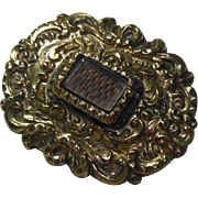 English Georgian Mourning Brooch Circa 1800-1837 - Red Tag Sale Item