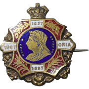 English Queen Victoria Diamond Jubilee Brooch-1897