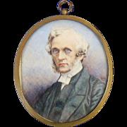Portrait Miniature of 19Th-Century Gentleman