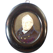 Hand Painted Miniature Portrait of Sailor