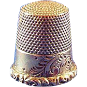 Antique 14 Karat Gold Thimble