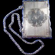 Gorham Sterling Silver Card Case with Chain Handle Circa 1852-1865 Hallmarked.