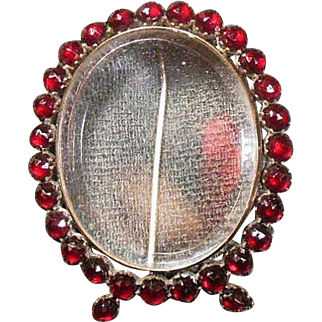 Victorian 1837-1901 Bohemian Picture Locket Brooch