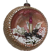 Diorama Shiny Glass Christmas Ornament with Candle