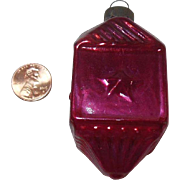 Vintage Red Glass Christmas Ornament
