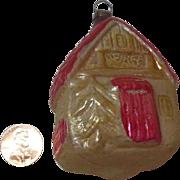 Vintage Christmas Ornament Shaped like a Cottage