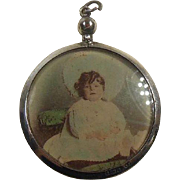 English Sterling Silver Rimmed Doublesided Picture locket HM 1906