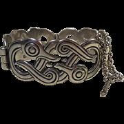Finnish Sterling Silver Bangle Bracelet Swan Figural HM 1989