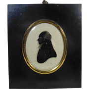 Antique English Silhouette Profile of a Gentleman Circa 1870-1900