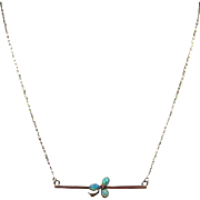 9 Carat Gold & Opal Pendant(Antique Bar Brooch) Upcycled to Neckace on a 14K Chain