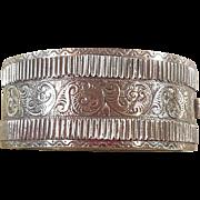 Sterling Silver Bangle Bracelet Circa 1880-1900