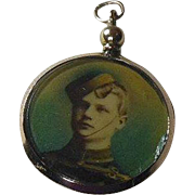 English Edwardian(1901-1914) 9 Carat Gold Double Sided Photo Locket