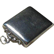 English Sterling Silver Locket/Stamp Holder- Hallmarked 1909