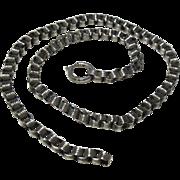 Victorian(1837-1901) Silver(835/1000)Book Neck Chain