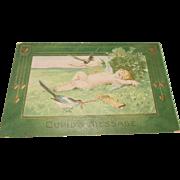 Cupid's Message Postcard Valentine Greeting Circa 1902-15
