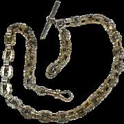 English 9 Carat Gold Albert Watch/Fob Chain -Circa 1870-1920