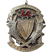 Sterling Silver Hallmarked St. David's Society-ELUSENGARWCH -Trophy/Pendant/Watch Fob Charm