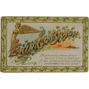 Erin Go Braugh Postcard Greeting Tuck's 1911 Stamped by Hand-St Patrick's Day