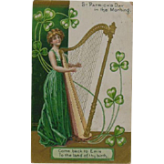 St Patrick's day in the Morning Erin Hand stamped 1909
