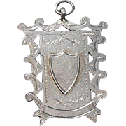 English Sterling Silver Trophy/Fob/Charm-Hallmarked Chester 1920