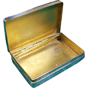 English Sterling Silver Box Hallmarked 1910 Chester assay
