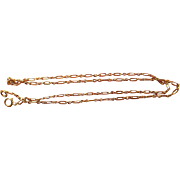 Edwardian (1901-10) 18 Karat Gold(750/1000) Neck Chain- 16.25 Inches