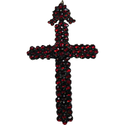 Victorian (1837-1901) Bohemian Garnet Cross