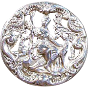 English Sterling Silver Button-Hallmarked